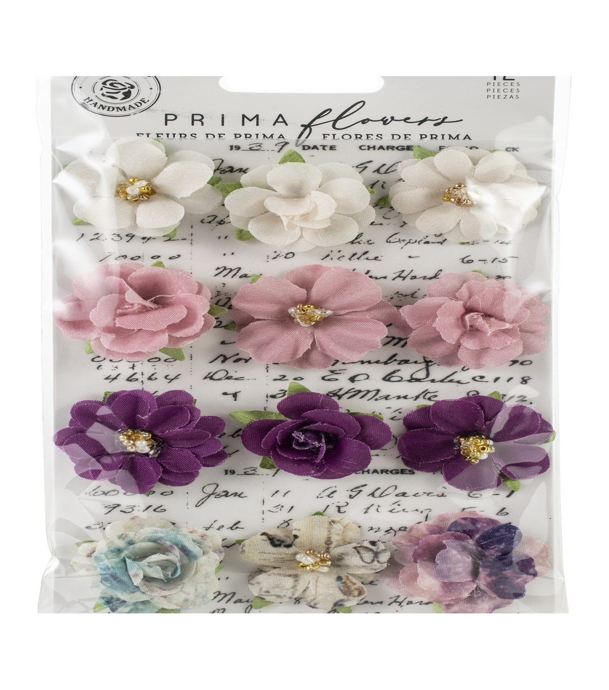 Prima Marketing Moon Child Paper Flowers 12/Pkg-Love Comet