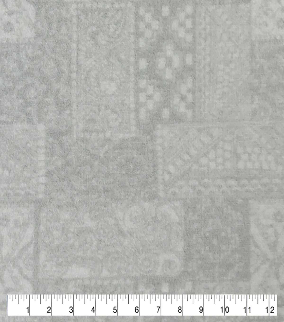 Sew Lush Fabric-Geo Patch Gray
