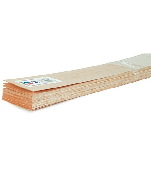 Balsa Wood 36\u0022 Sheets-20PK/1/8\u0022X1\u0022