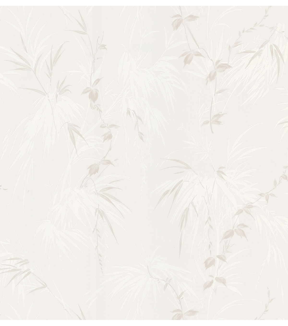 Misaki Cream Leaf Motif Wallpaper Sample