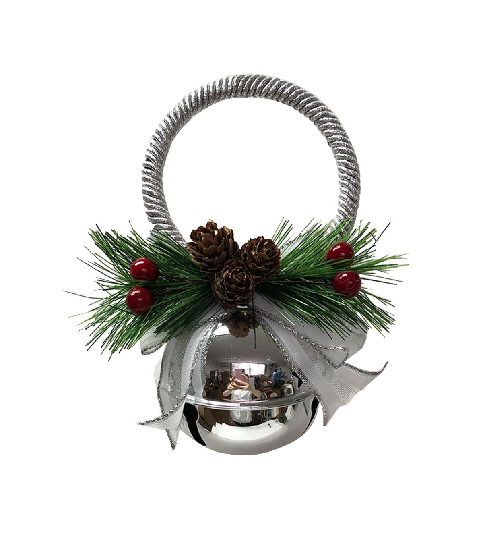 Maker S Holiday Christmas 70 Mm Jingle Bell Door Knob Hanger Silver