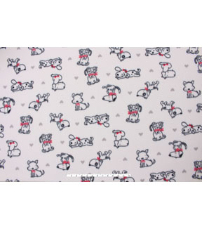 Blizzard Fleece Fabric -Sketched Baby Pups