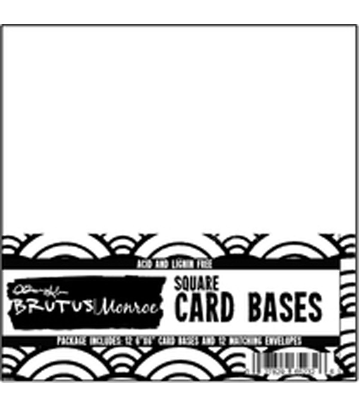 Brutus Monroe 24 pk Cards with Envelopes-White
