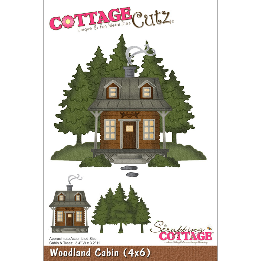 Cottage Cutz Die Woodland Cabin