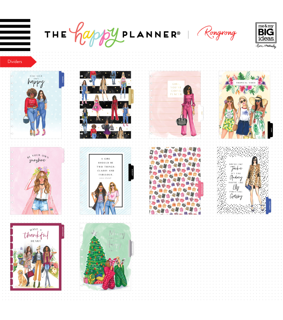 Classic Happy Planner x Rongrong Brave & Beautiful-18 Months (2019-2020)