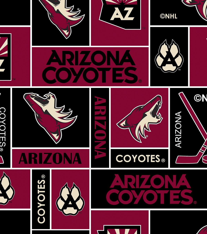 arizona coyotes fleece fabric 60''-block   joann