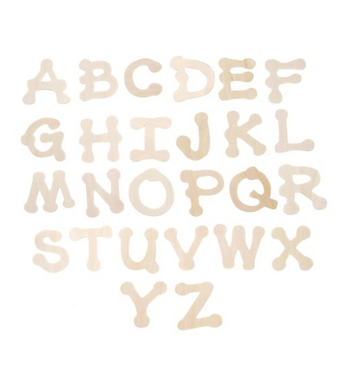 Darice Wood Cutout Letters-Dot To Dot 1.75\u0022