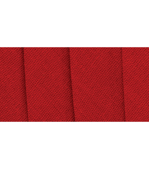 Wrights Extra Wide Double Fold Bias Tape, Foldo Red
