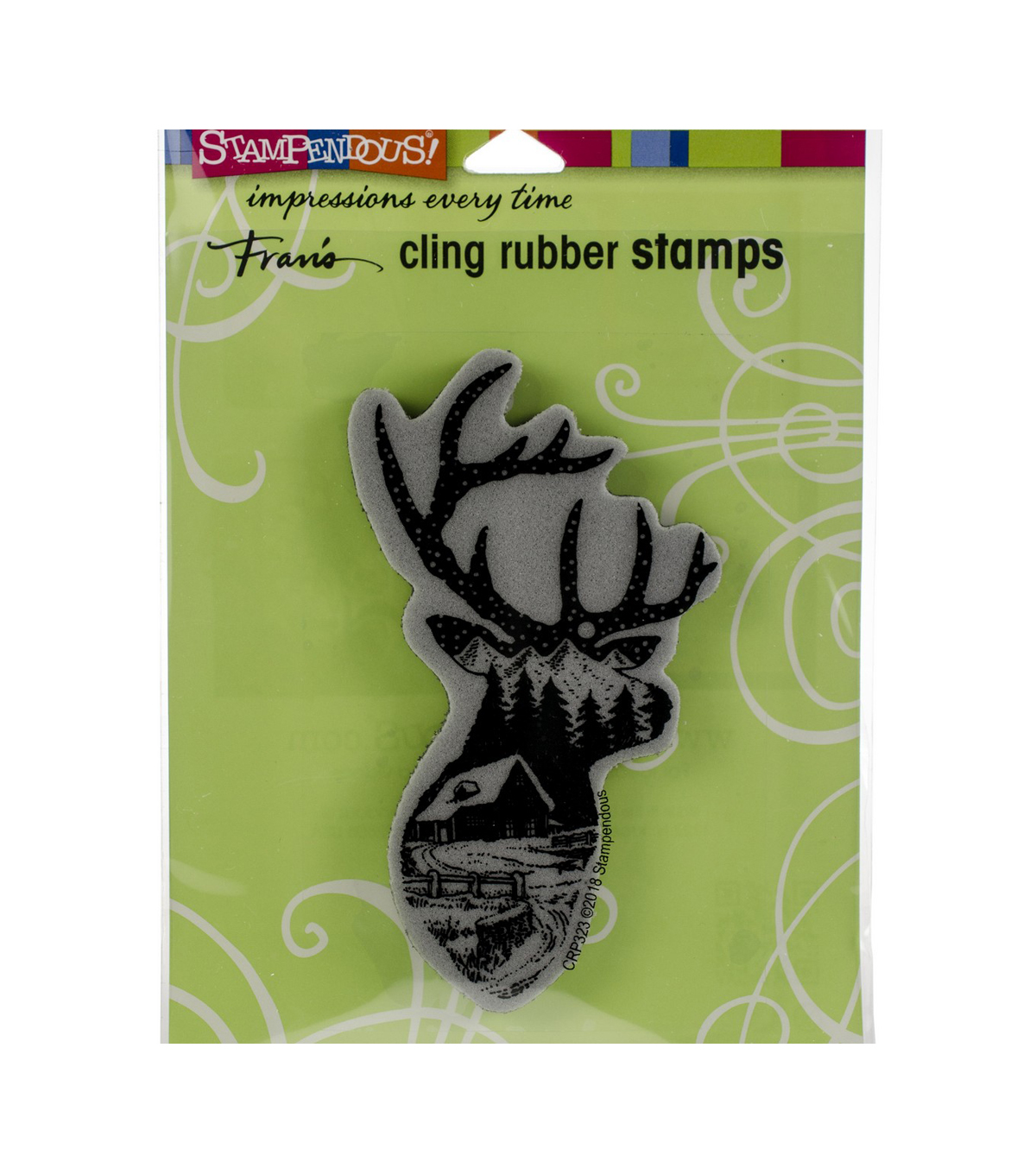 Stampendous Cling Stamp -Buck Scene