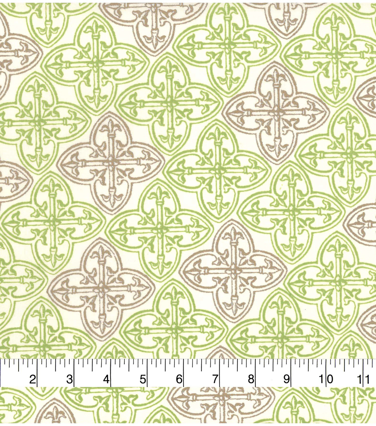 St. Patrick\u0027s Day Cotton Fabric-Beige & Green Celtic