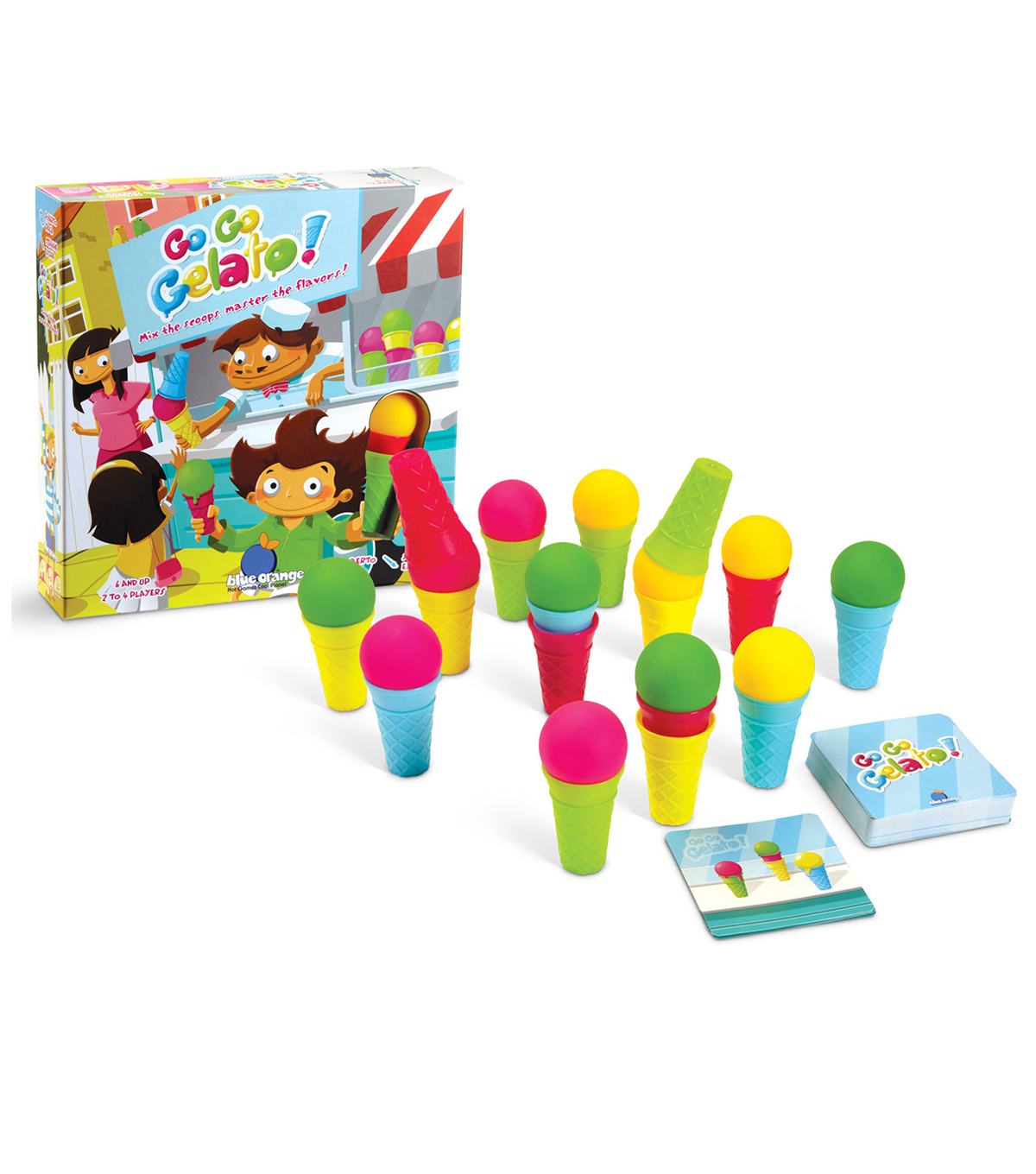 Blue Orange Games Go Go Gelato! Game, Ages 6 and Up, 2-4 Players