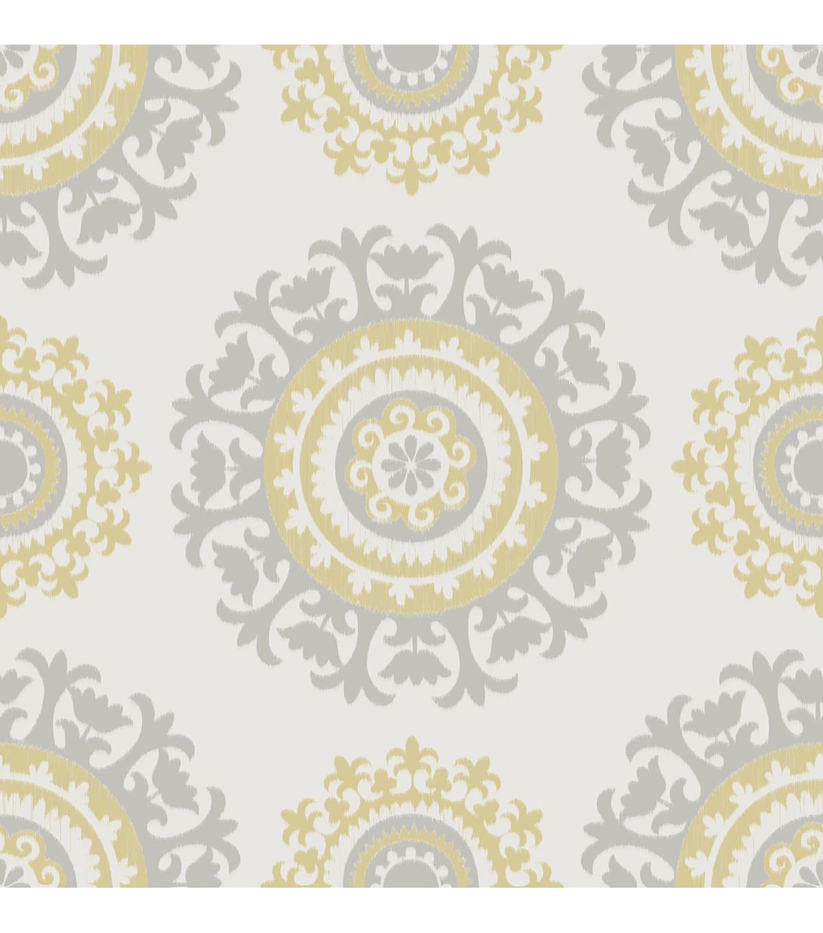 Wallpops Nuwallpaper Gray And Yellow Suzani L Stick Wallpaper