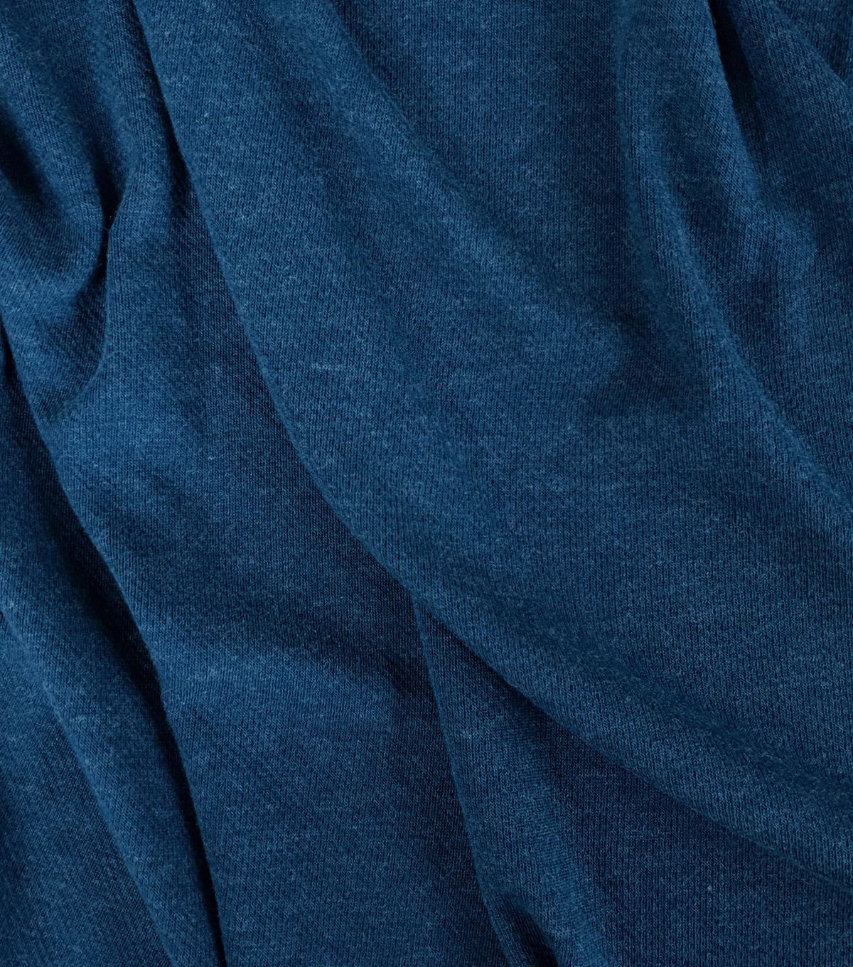 Loungeletics Performance Wool Blend Fabric-Heather Majolica Blue