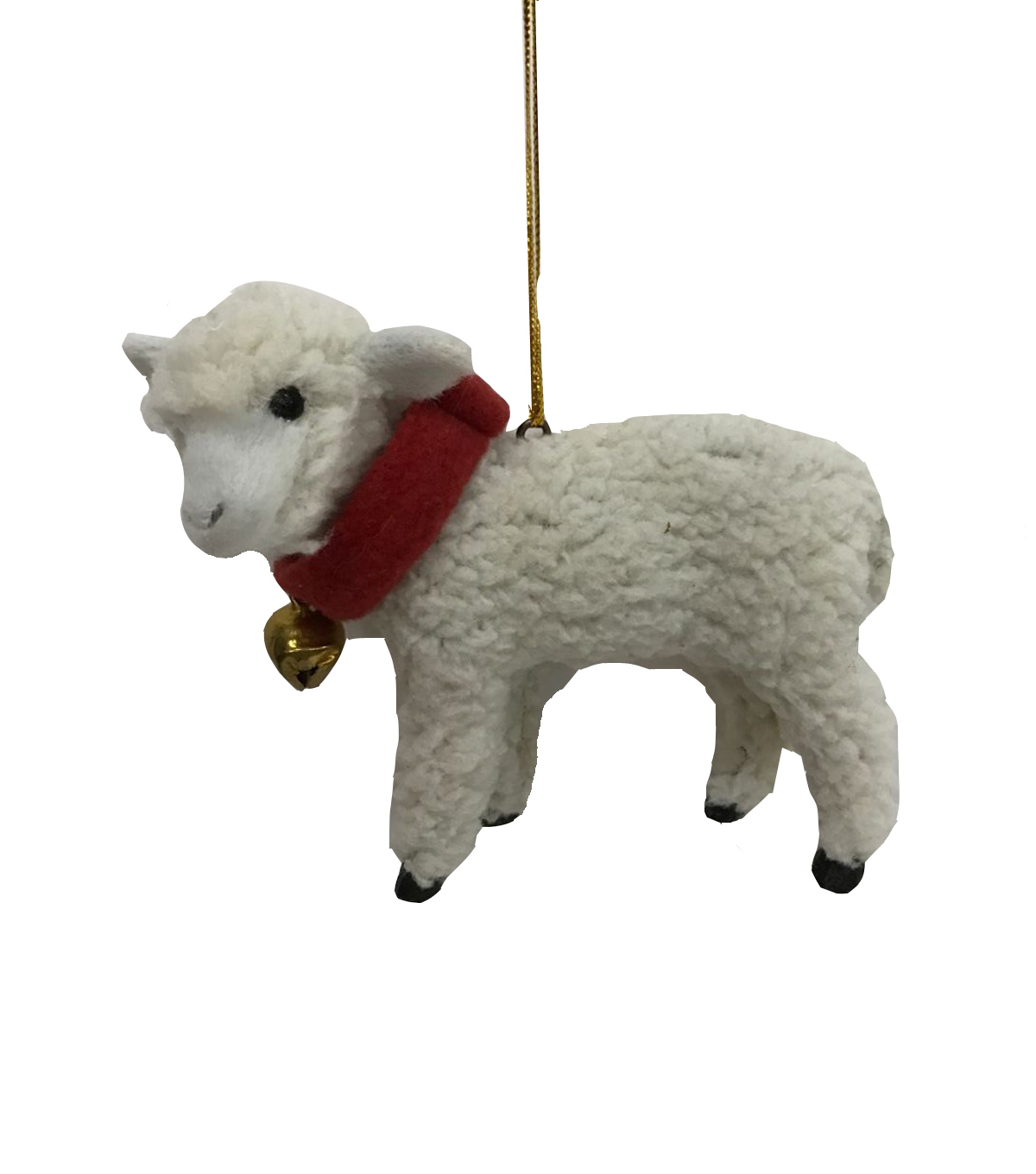 Maker\u0027s Holiday Christmas Furry Sheep Ornament