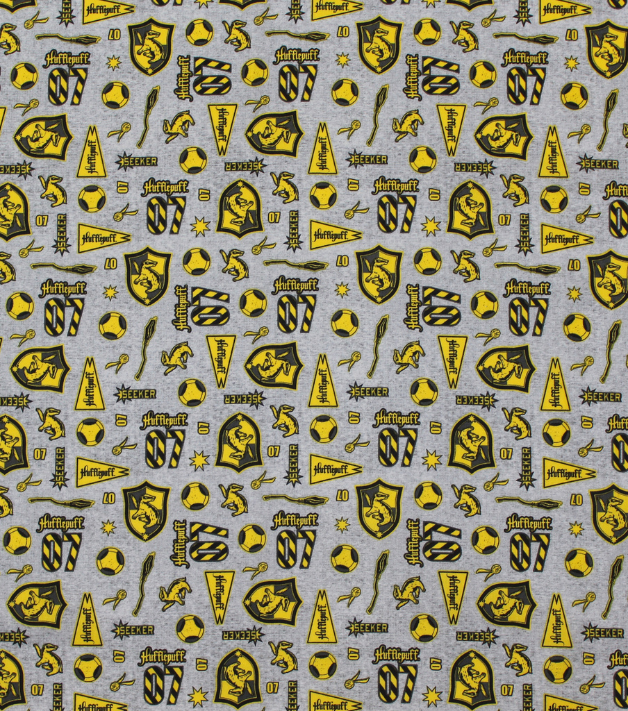 Harry Potter Cotton Fabric-Hufflepuff Pride