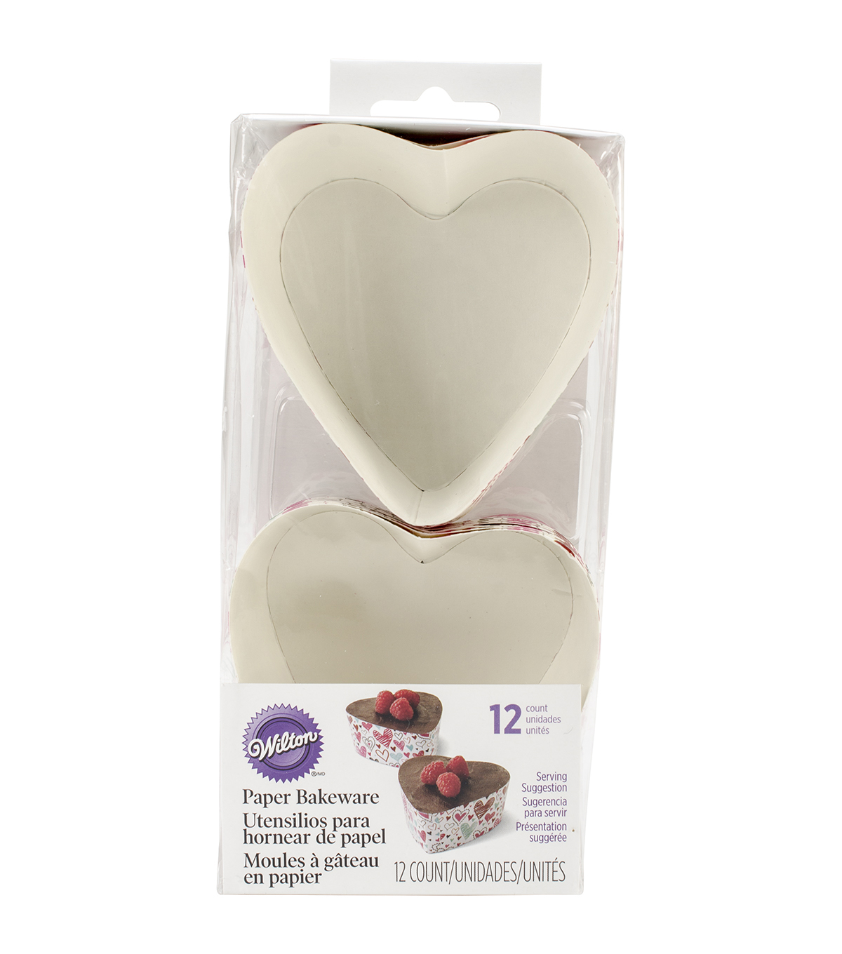 Wilton Disposable Bakeware 12/Pkg-3\u0022 Heart