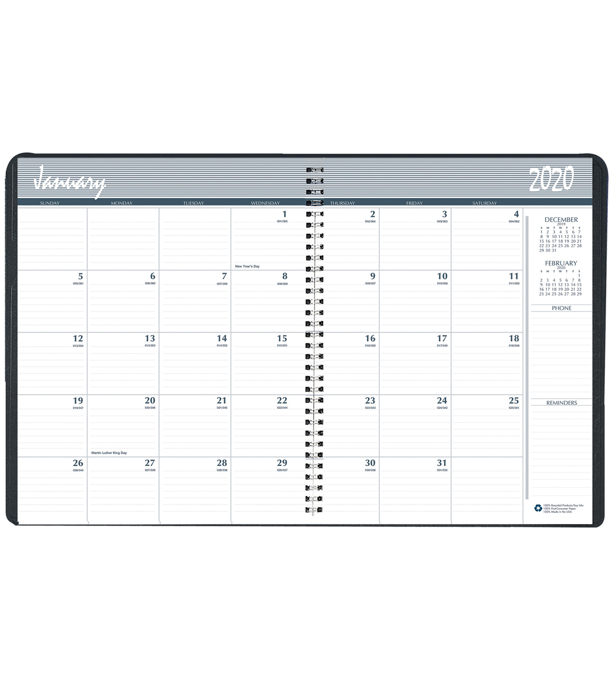 Monthly Planner, 24 months, Jan. 2014-Dec. 2015