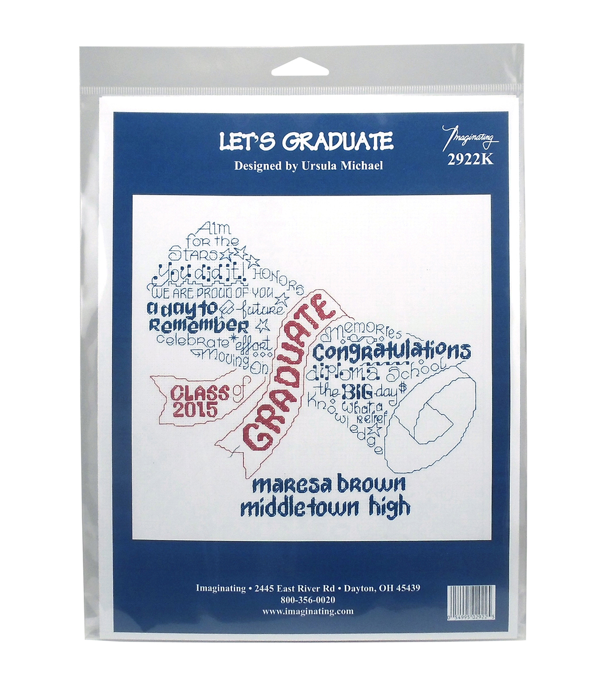 Imaginating Counted Cross Stitch Kit-Let\u0027s Graduate Graduation Record
