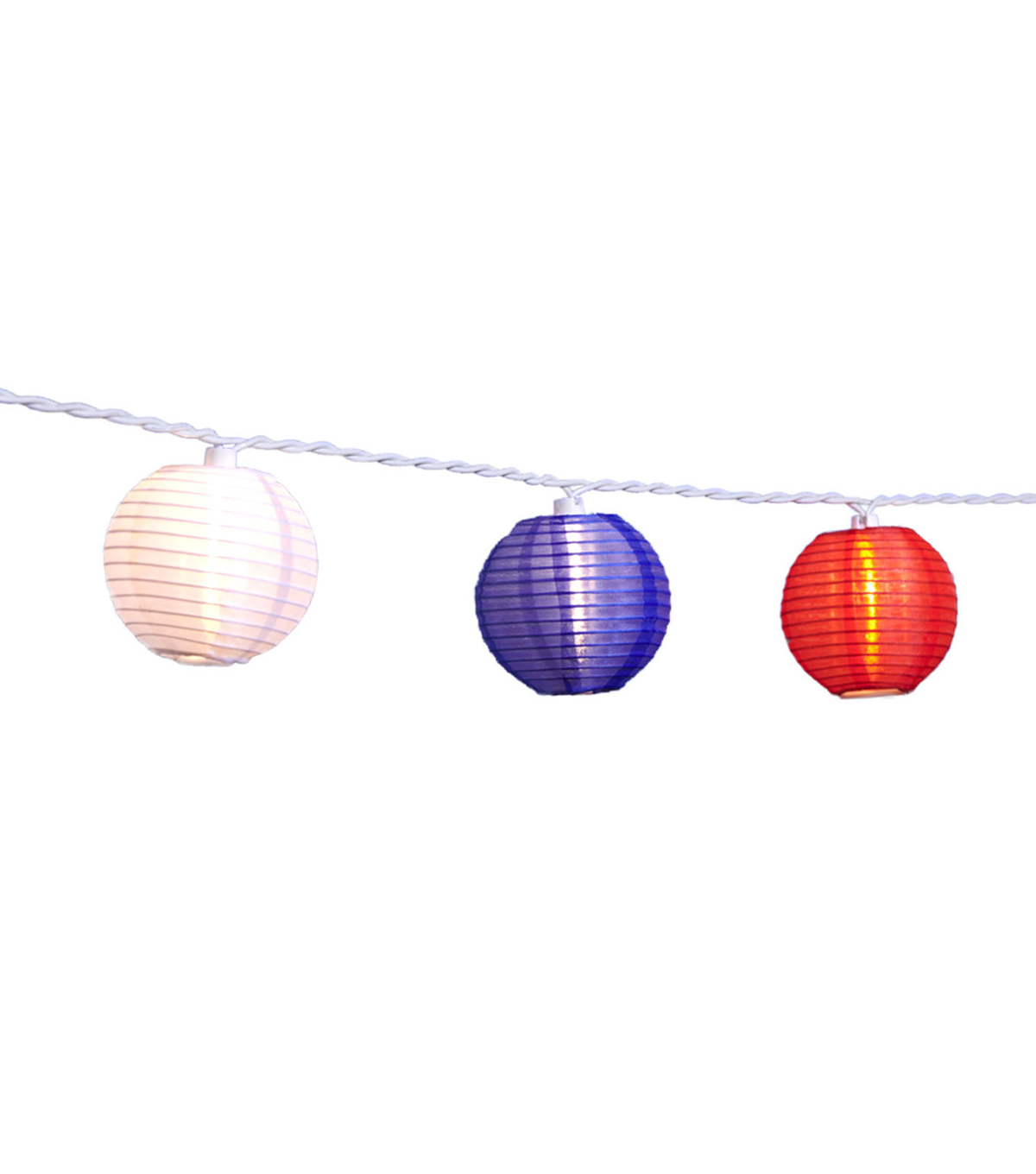 Land Of The Free Paper Lantern String Lights Red White Blue