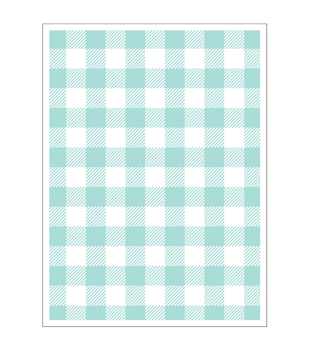 Park Lane A2 Embossing Folder-Buffalo Plaid