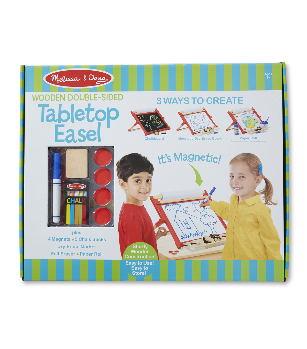Melissa Doug Wooden Double Sided Tabletop Easel Set