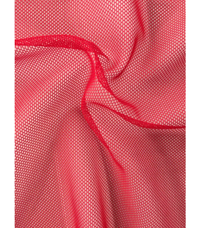 Casa Collection Super Stretch Mesh Fabric -Tango Red