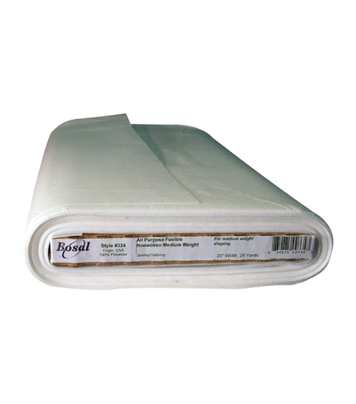 Bosal Fusible Non-Woven All-Purpose Interfacing-White 20\u0027\u0027X25yd