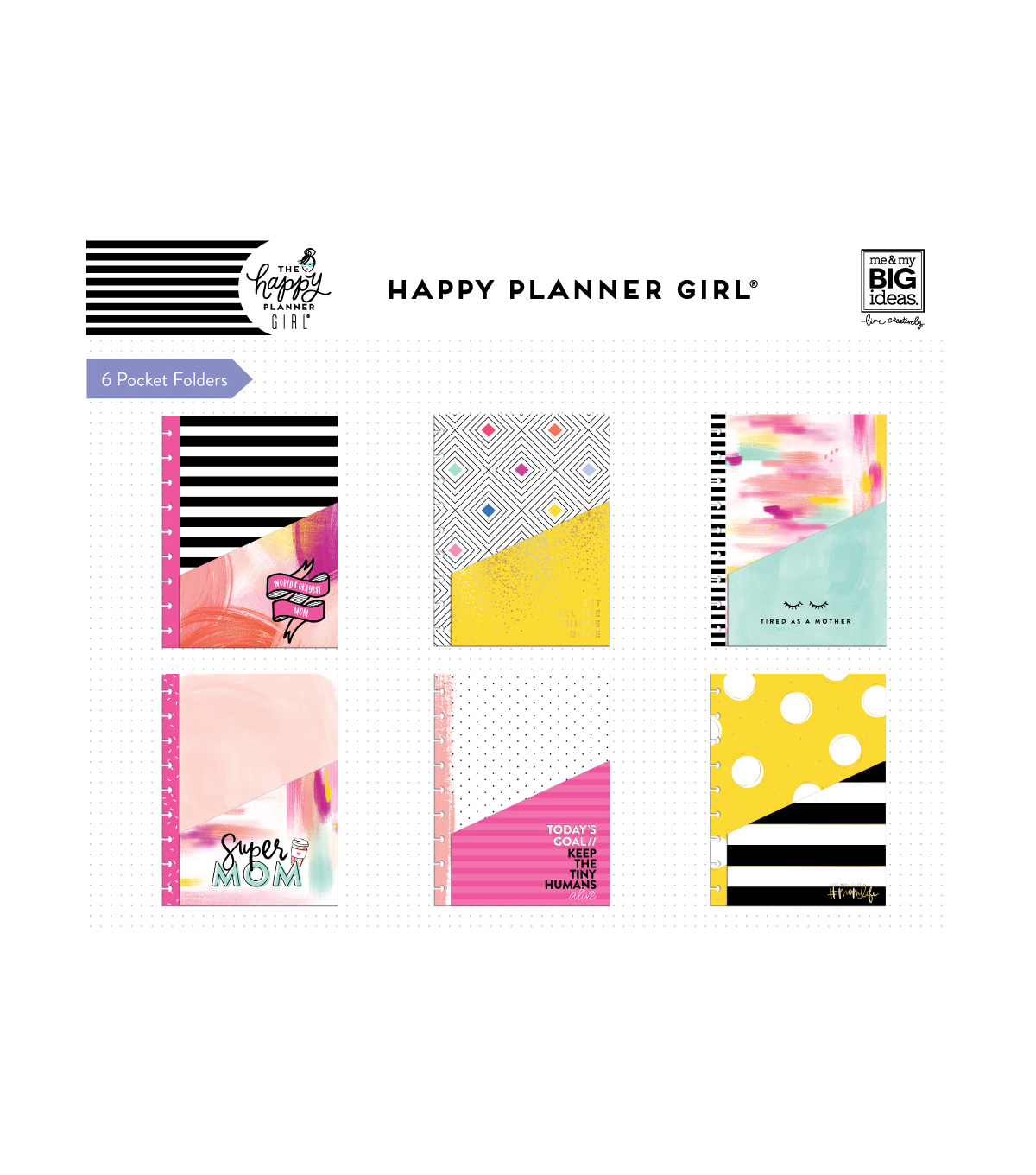 The Happy Planner Girl Classic Pocket Folders-Super Mom