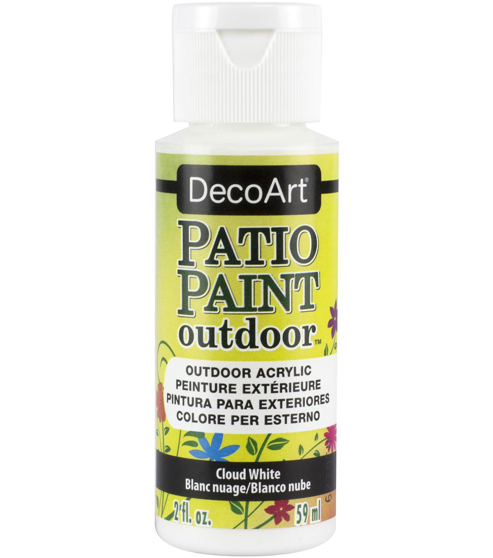 DecoArt Patio Paint Outdoor 2 Fl. Oz. Acrylic Paint, Cloud White