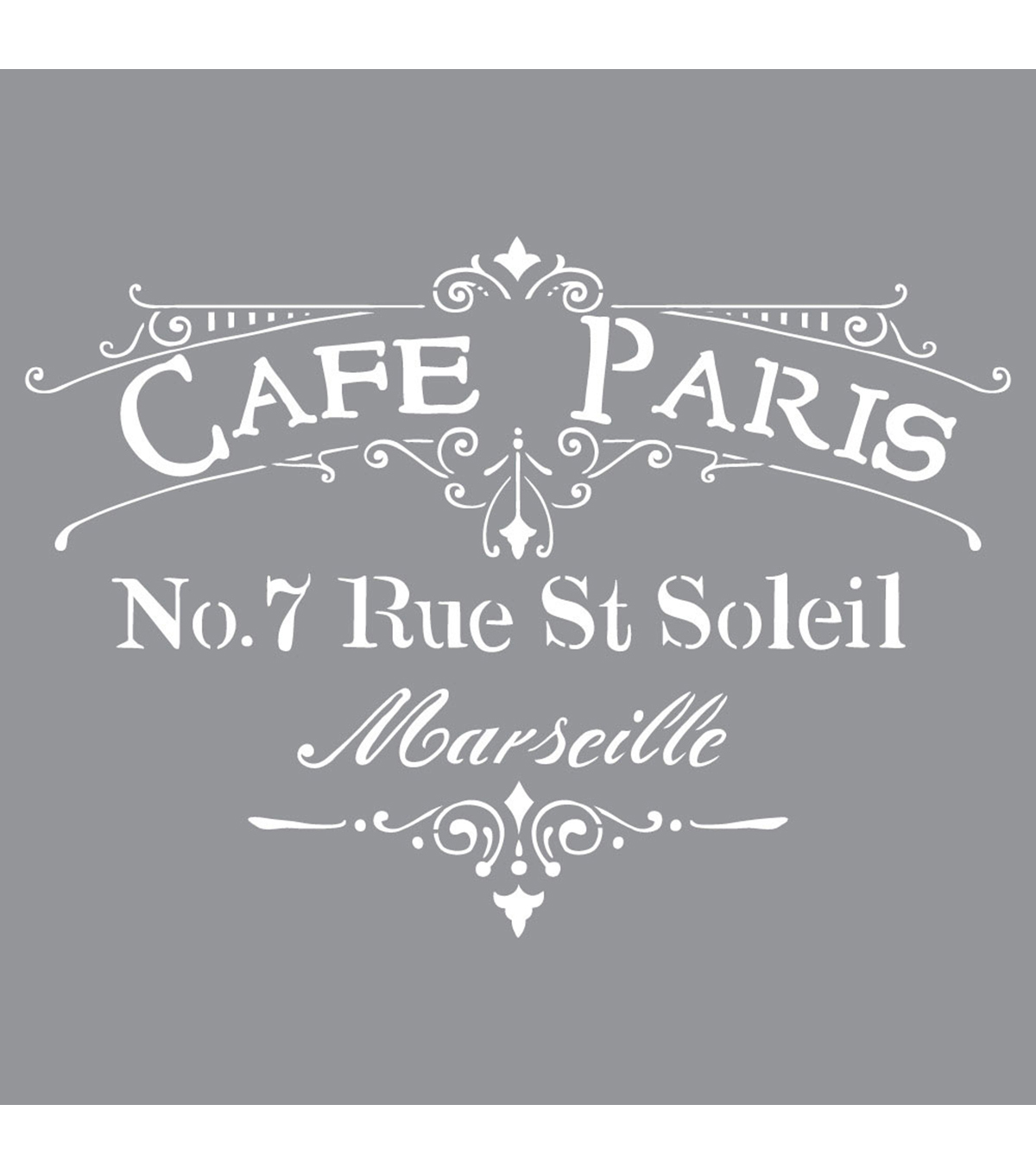 DecoArt Americana Decor 12\u0027\u0027x12\u0027\u0027 Stencil-Cafe Paris