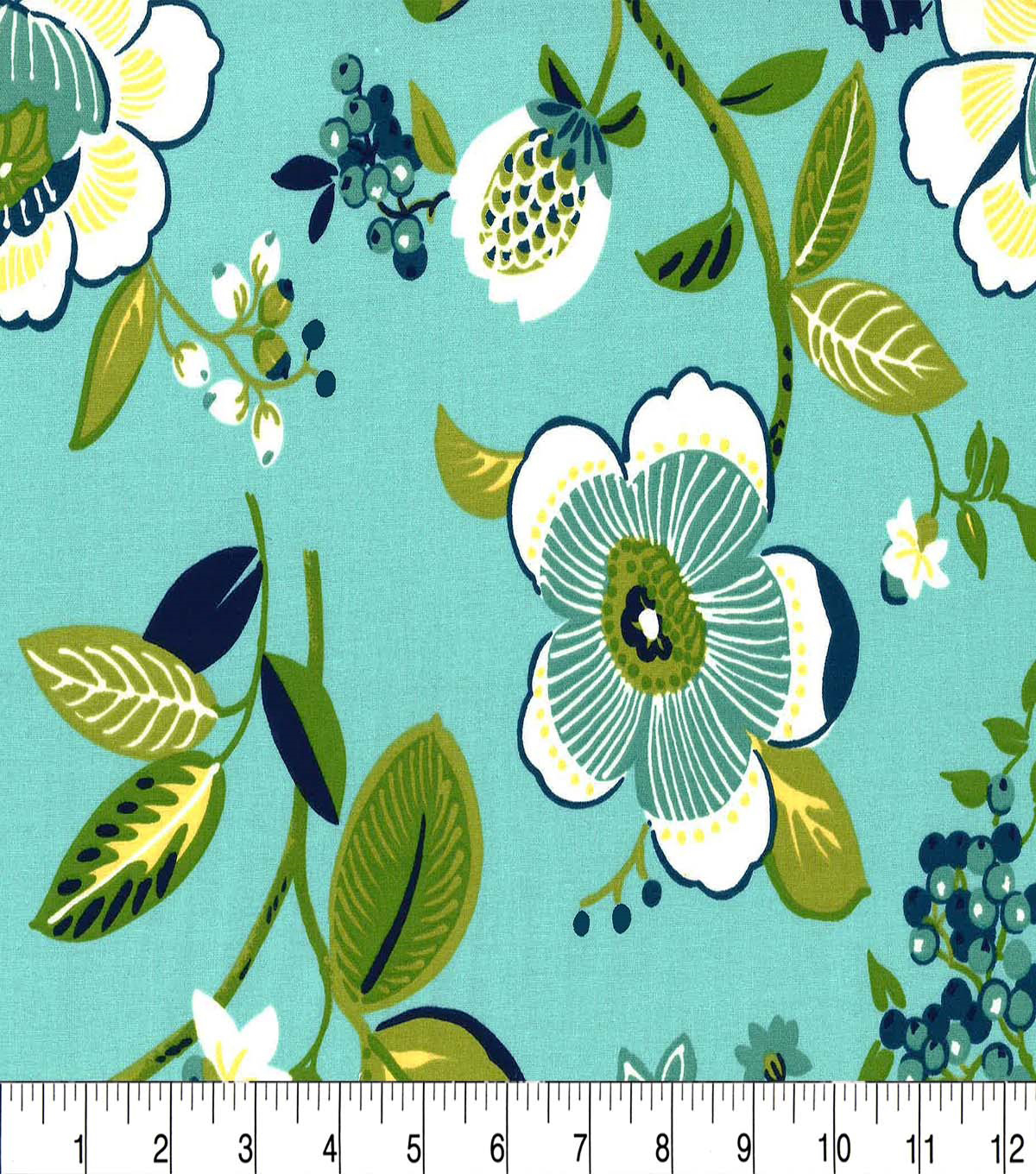 Keepsake Callico Cotton Fabric-Unequaled Aqua