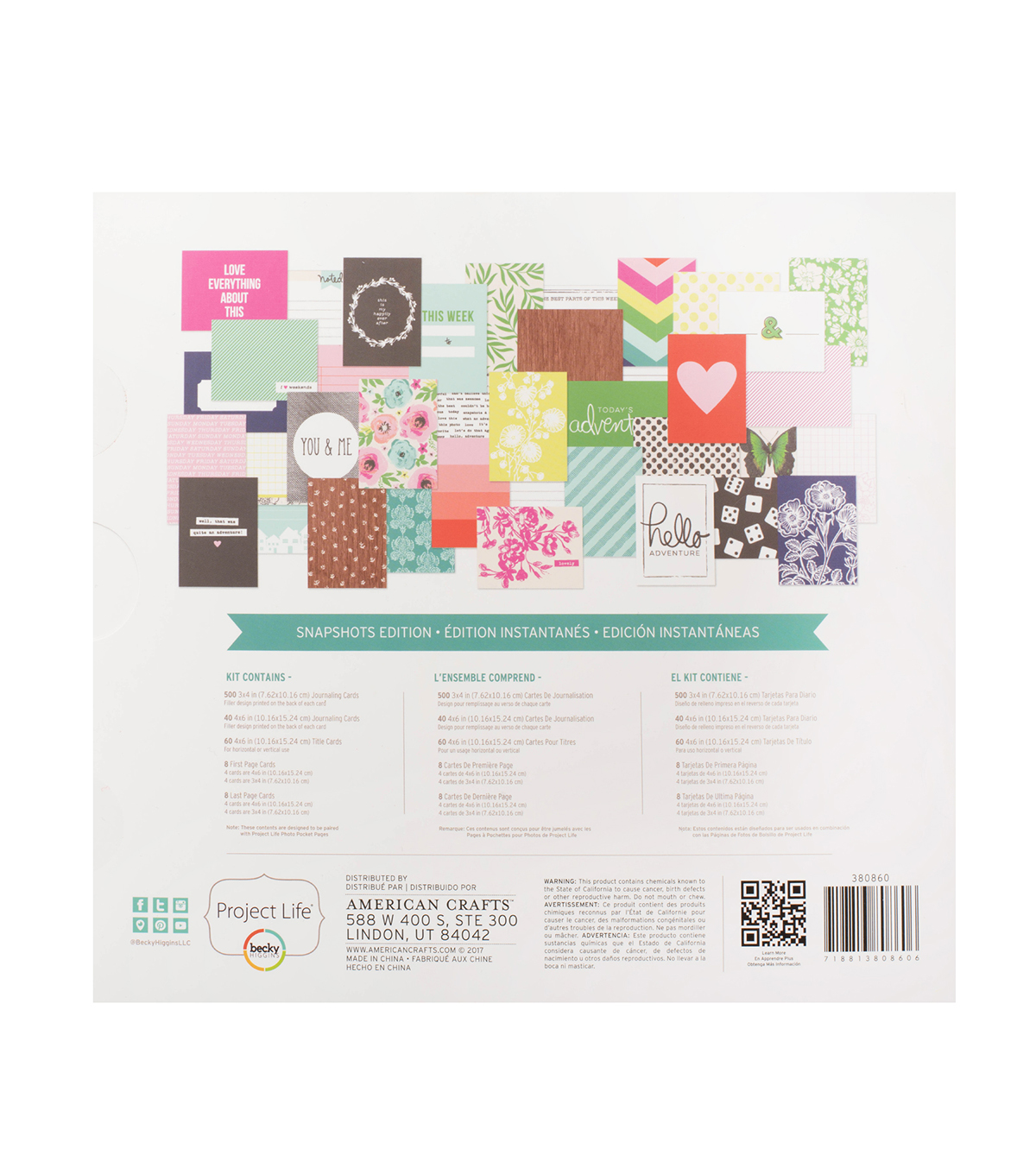 Project Life Snapshots Edition Nicole Seitter 616 pk Core Kit
