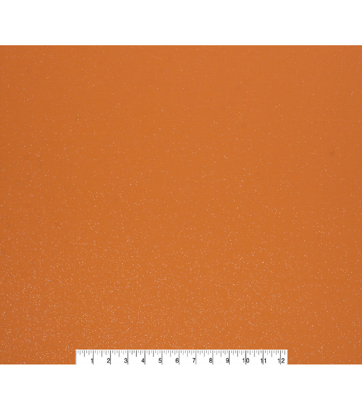 Keepsake Calico Cotton Fabric-Silver Glitter on Orange