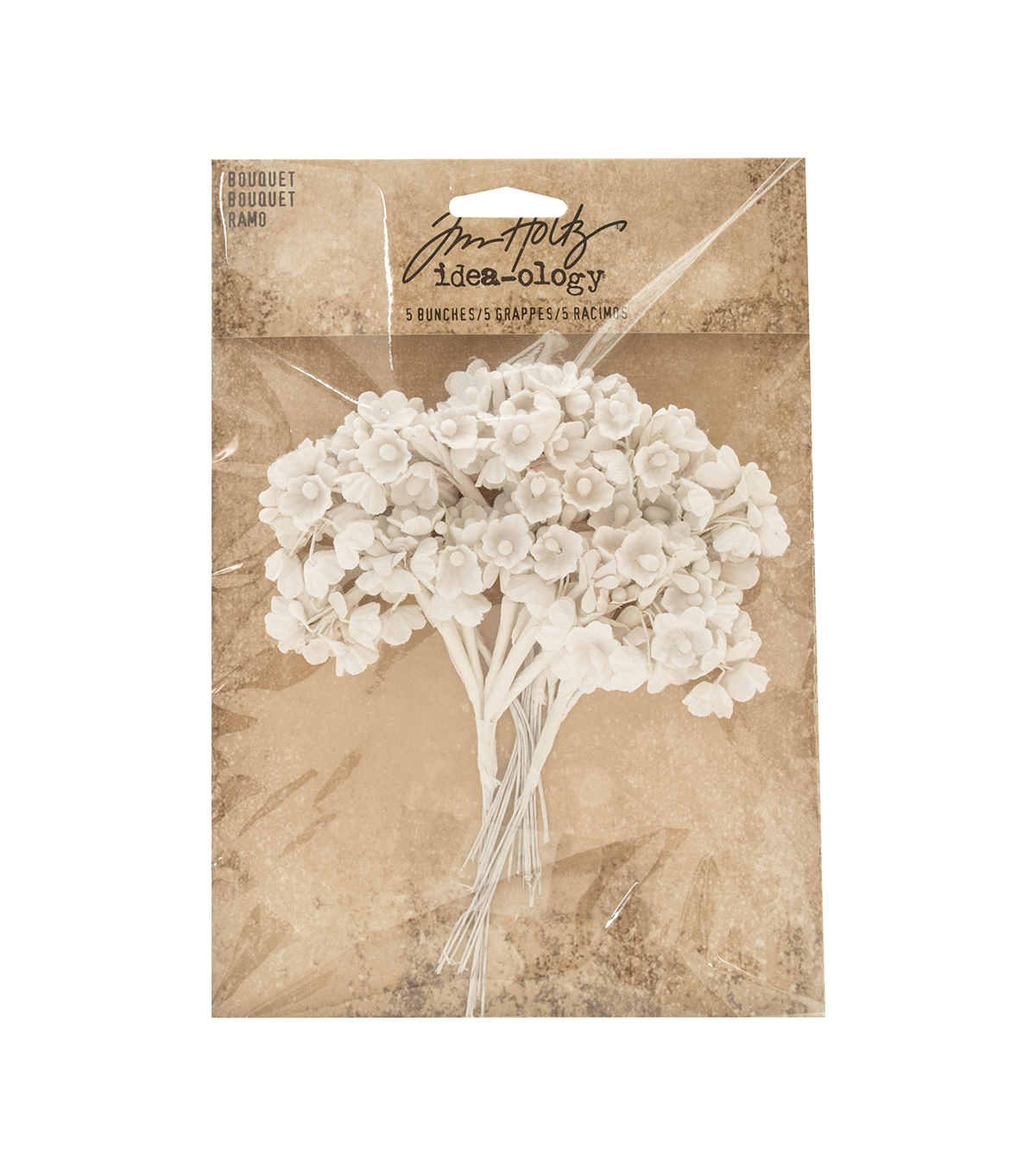 Tim Holtz Idea-ology Pack of 5 Bouquets