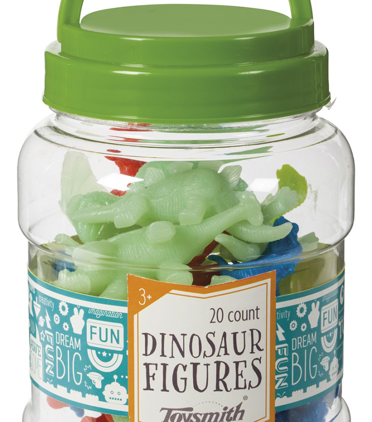Toysmith 20 pk Dinosaur Figures in Jar