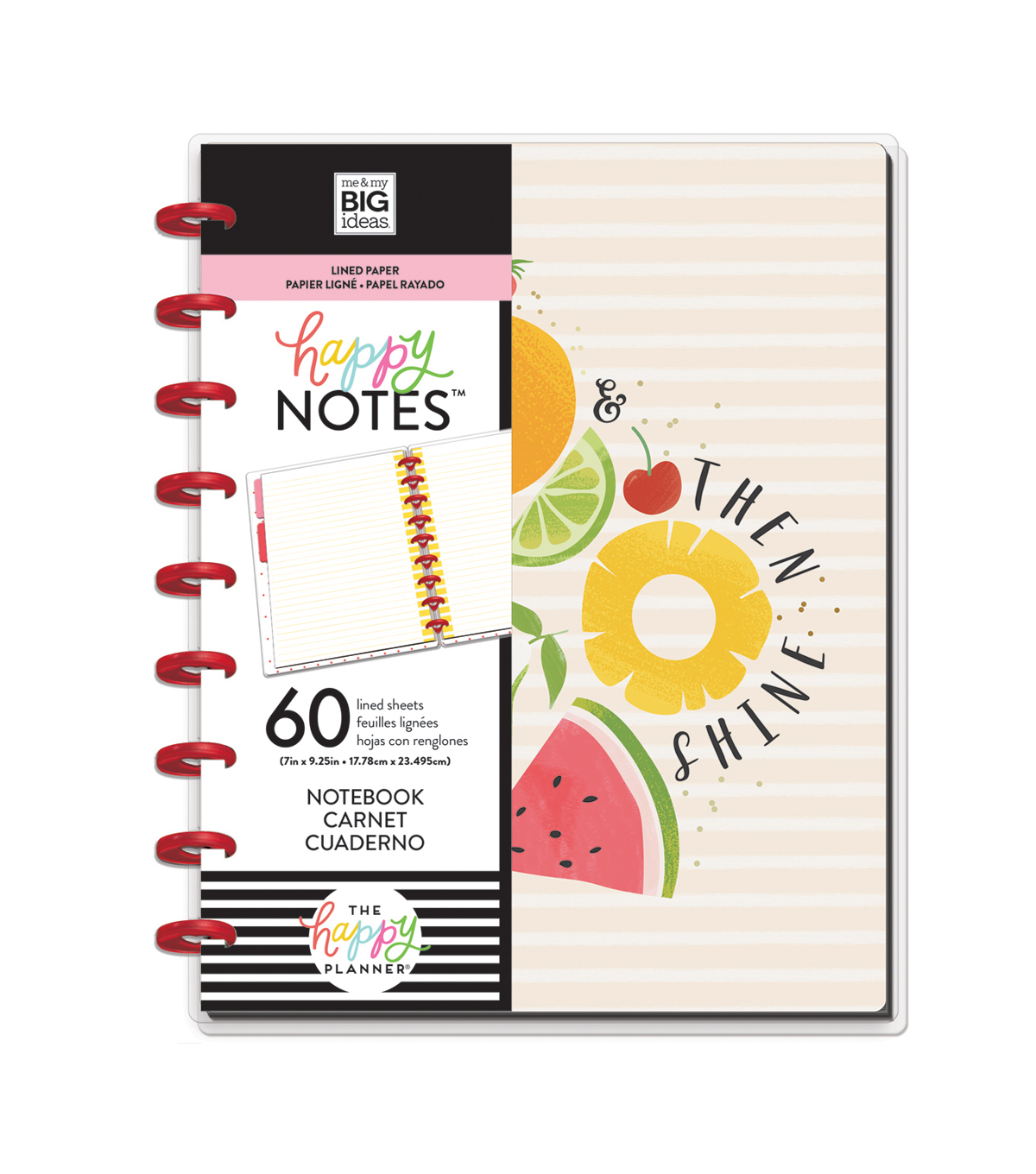 The Happy Planner Happy Notes 60-sheet Notebook-Foodie