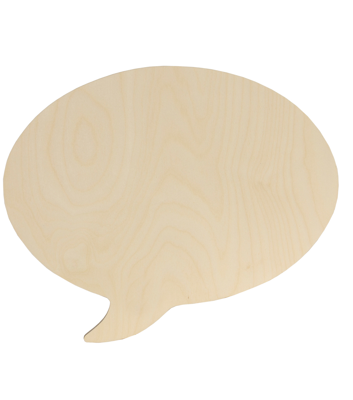 Walnut Hollow Unfinished Wood Surface Oval Speech Bubble