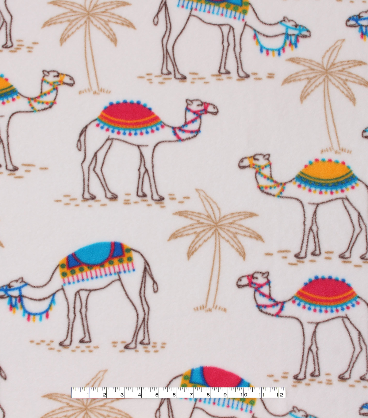 Anti-Pill Fleece Fabric -Desert Camels | JOANN
