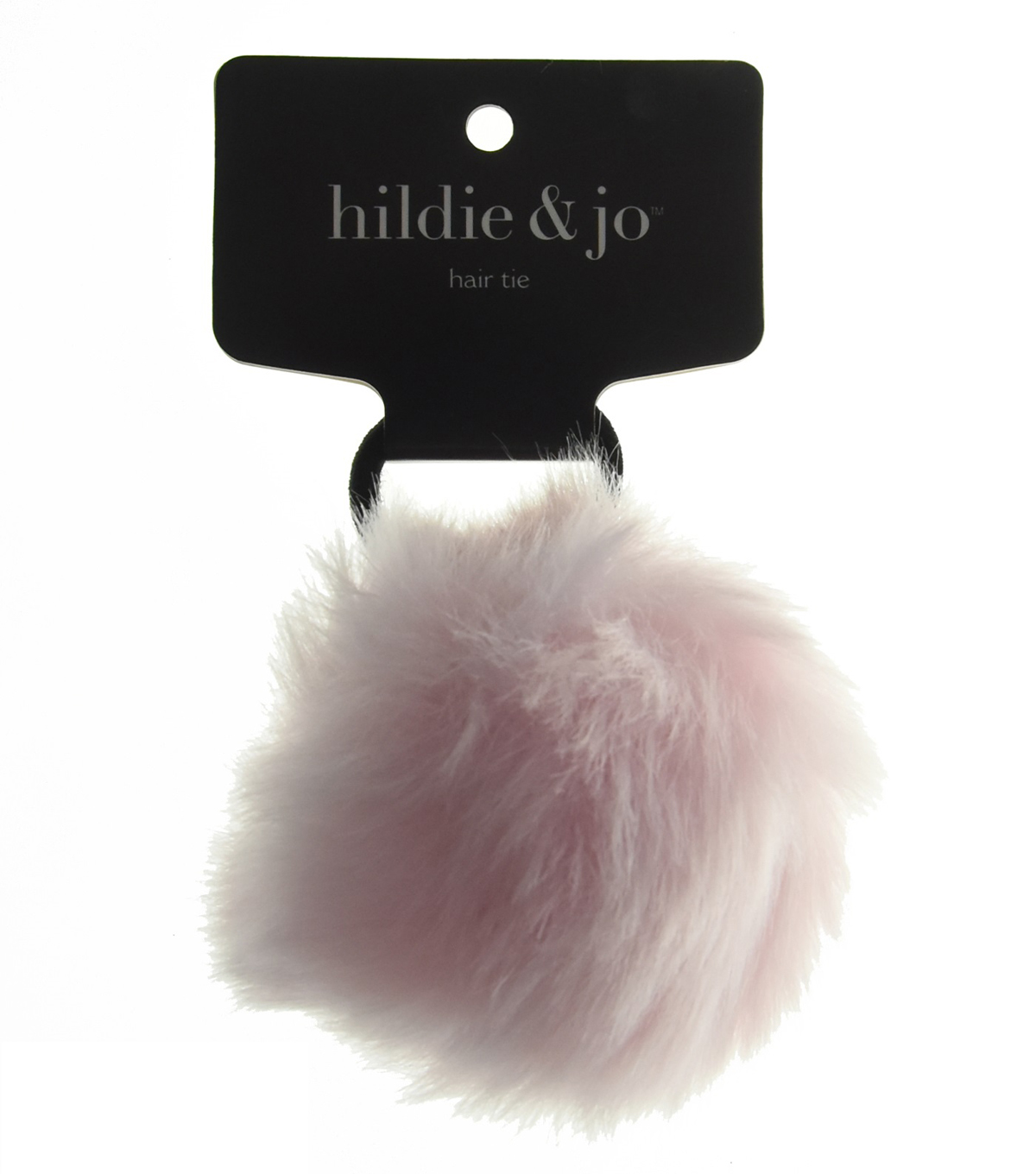 hildie & jo Pom Hair Tie-Light Pink