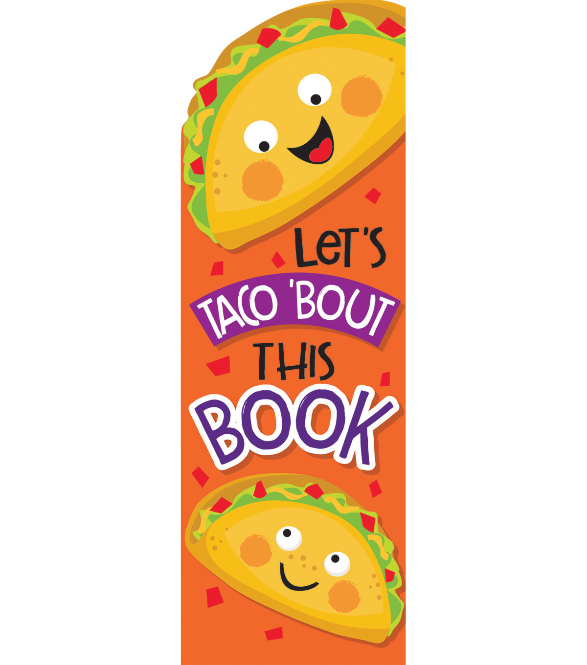 Eureka 24 pk Taco Scented Bookmarks-Let\u0027s Taco \u0027Bout This Book