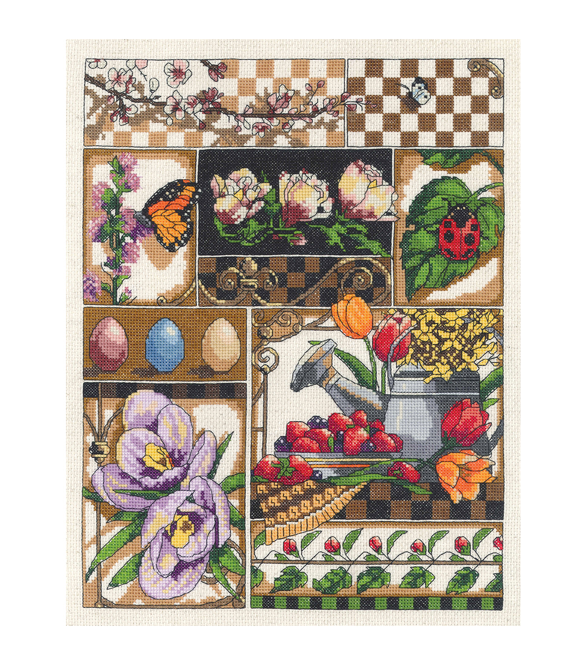 Spring Montage Counted Cross Stitch Kit-11\u0022X14\u0022 14 Count