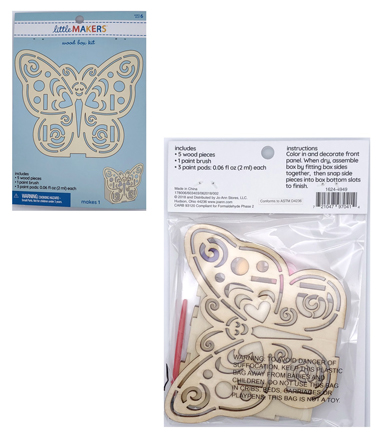 Little Makers Wood Painting Kit-Butterfly