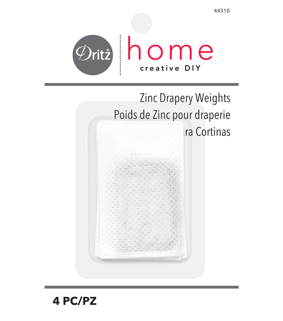 Zinc Drapery Weights 4ct