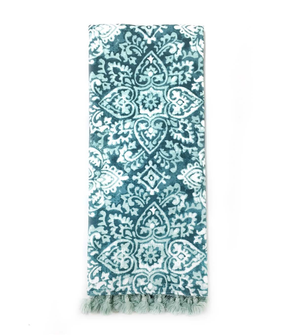 Hudson 43 Pure 16\u0027\u0027x28\u0027\u0027 French Terry Towel-Blue Print