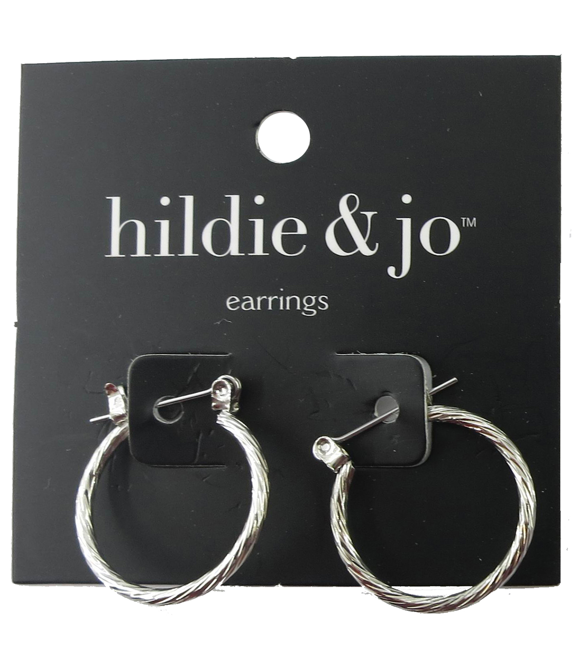 hildie & jo 0.88\u0027\u0027x0.88\u0027\u0027 Silver Hoop Earrings