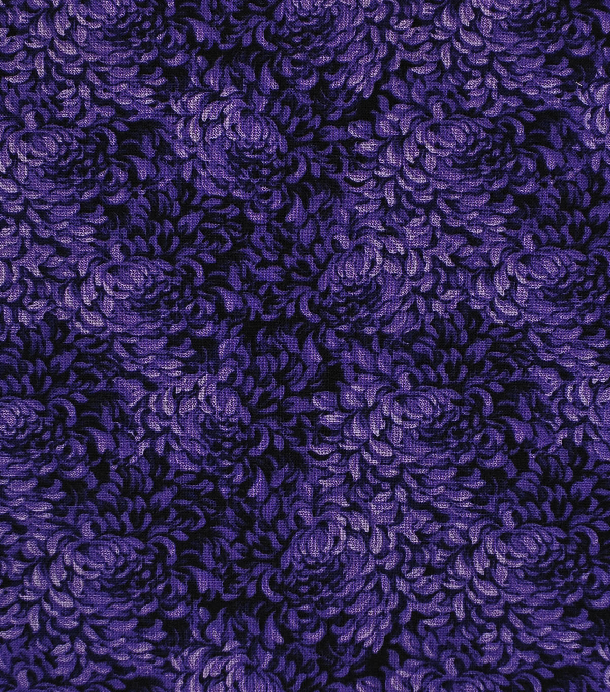 Keepsake Calico Cotton Fabric -Purple Packed Petals