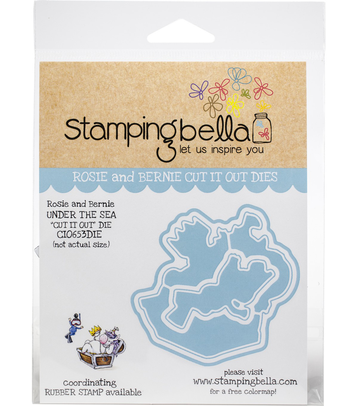 Stamping Bella Cut It Out Dies-Rosie & Bernie Under The Sea