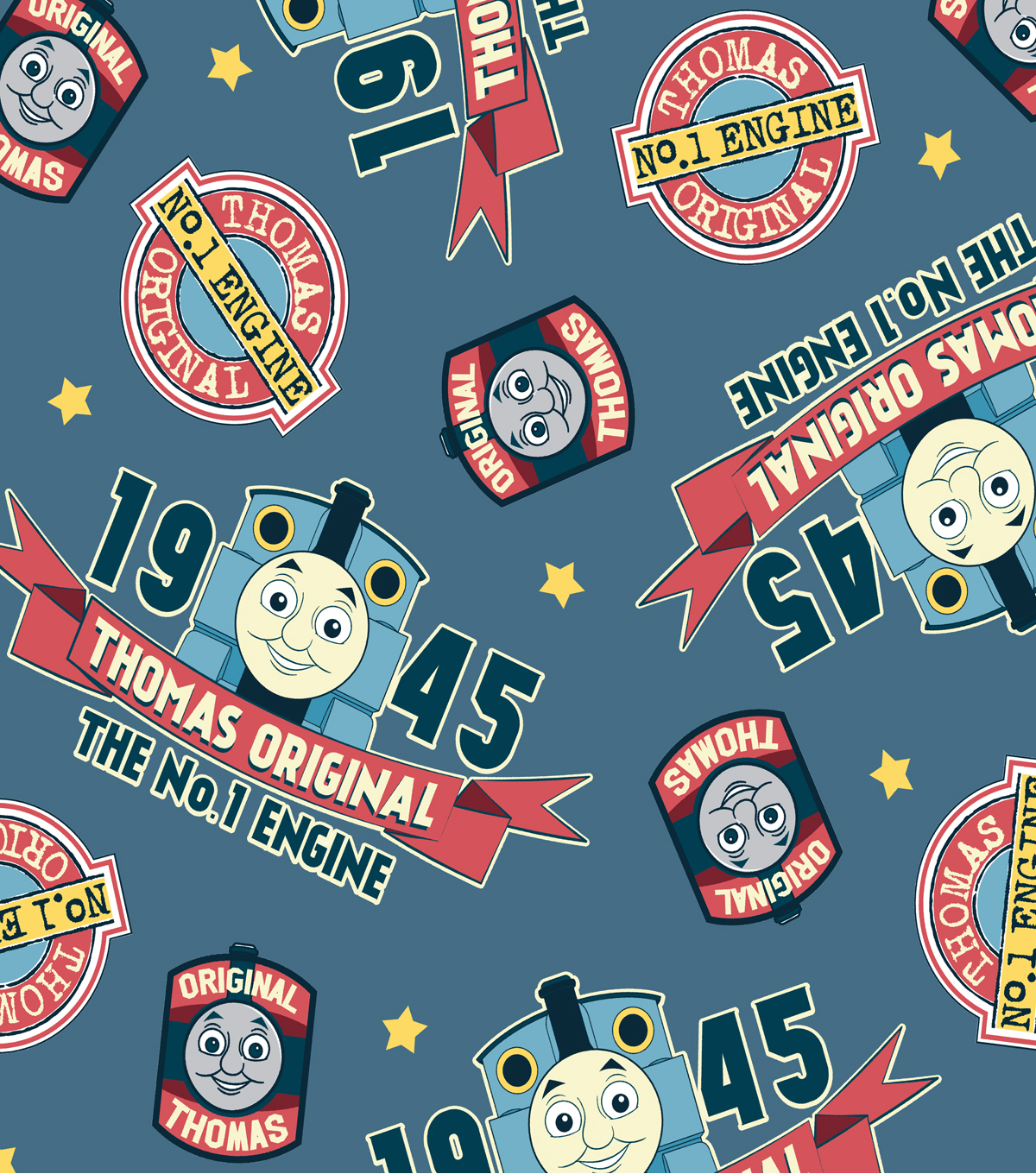 Thomas the Train Fleece Fabric -Original