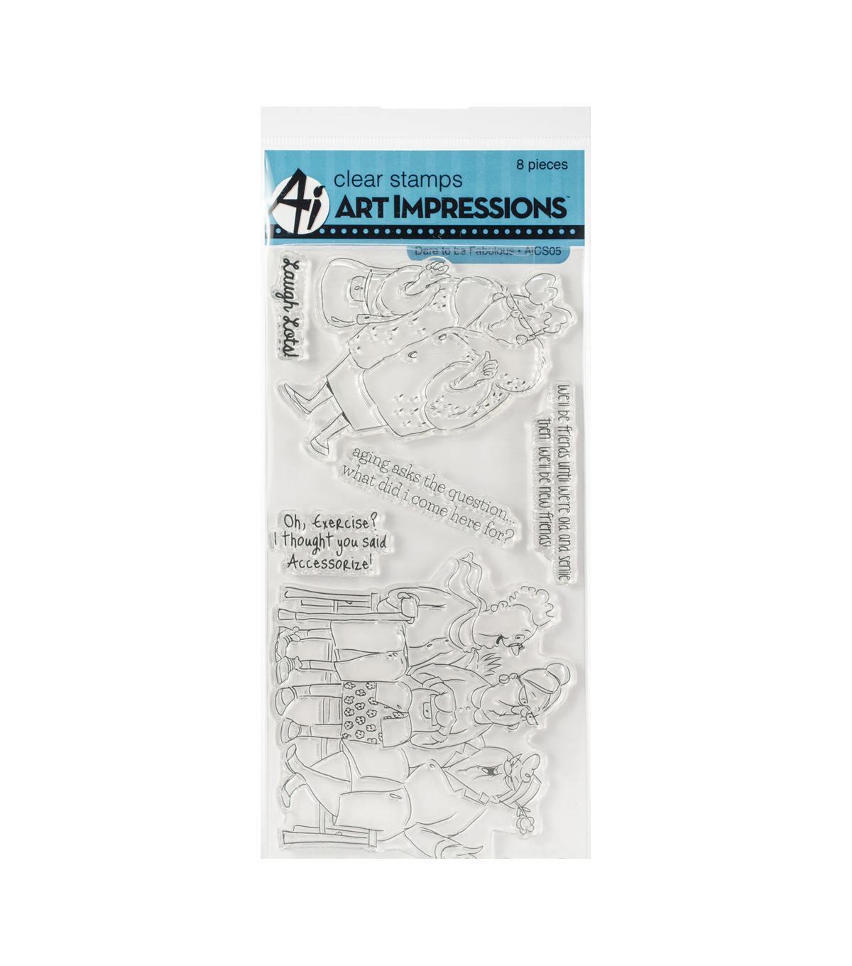 Art Impressions 8 pk Clear Stamps-Dare to be Fabulous