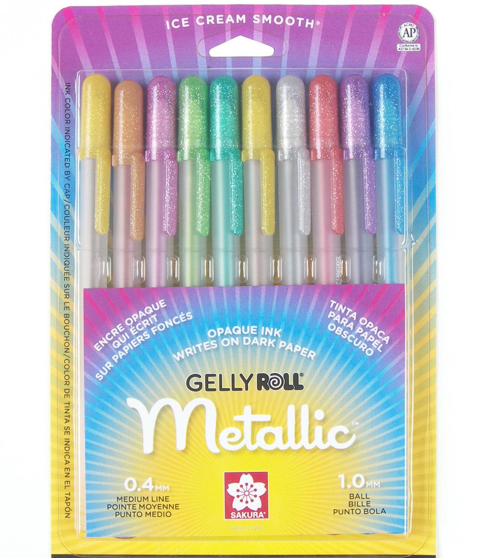 Sakura Gelly Roll Medium Point Pens-10PK Metallic  aa8cf1dbdc563